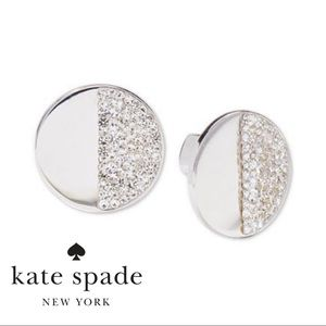 NWT KATE SPADE Silver-tone Pave Earrings